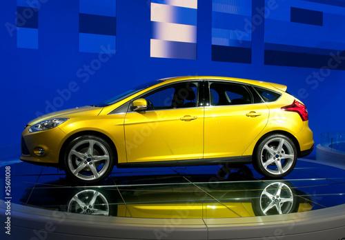 Photo  modern car on autoshow