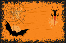 Halloween Night With Bat And S...