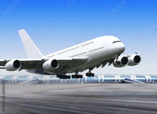 Foto op Aluminium Luchthaven big plane in airport