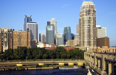 Fototapeta na wymiar Colorful Buildings in Minneapolis