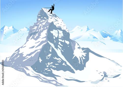Photo  Berge Matterhorn klettern