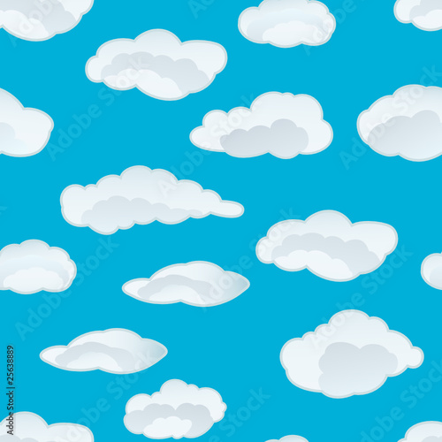 Poster Ciel clouds seamless
