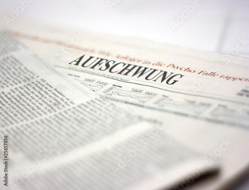 Poster Kranten german newspaper aufschwung