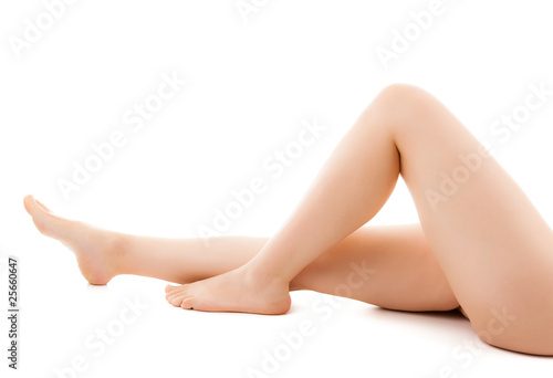Fototapeta Beautiful legs on a white background obraz na płótnie