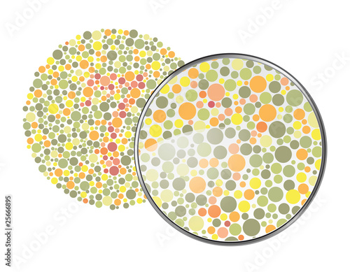 Foto  vision d'un daltonien