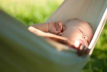 Baby Sleep Quiet Into Hammock