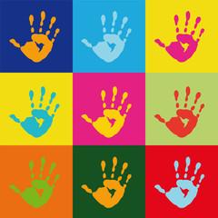 Fototapeta Popart popart handprint