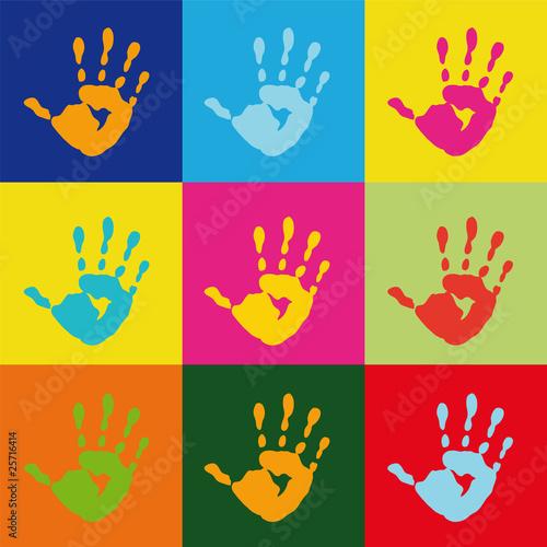 popart handprint - 25716414