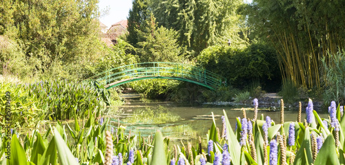 Foto  Monets Garden and Lily Pond,Giverny France