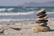 canvas print picture - Pebble stack
