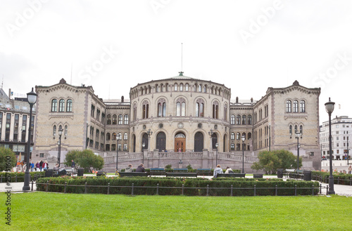 Photo  Stortinget (Parliament) in central Oslo