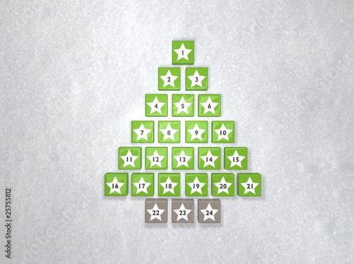 Weihnachtskalender Tannenbaum.Adventskalender Tannenbaum Buy This Stock Photo And Explore