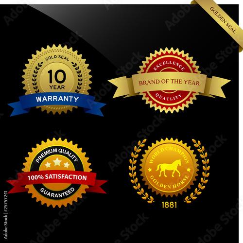 Fotografía  Warranty Guarantee Gold Seal Ribbon Vintage Award