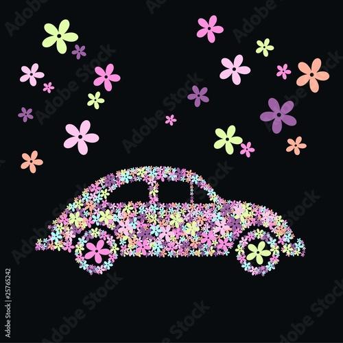 samochod-kwiat