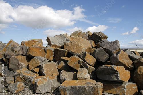 Tablou Canvas Stone blocks for construction