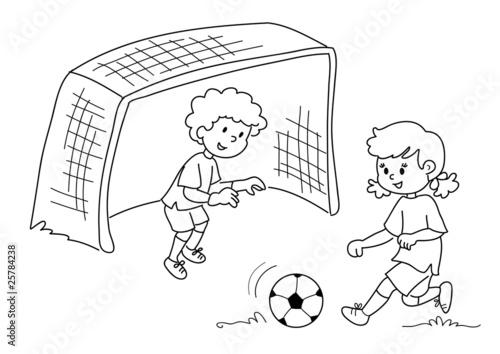 Bambini Che Giocano A Calcio Bianco E Nero Kaufen Sie Diese