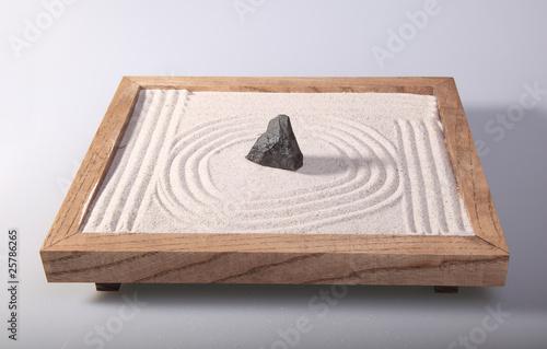 Foto op Plexiglas Stenen in het Zand Mini zen garden japanese home decoration in studio