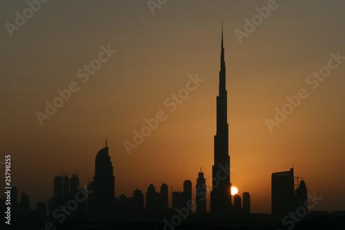 Fototapety, obrazy: Dubai Skyline Sunset