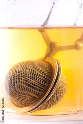 Canvas Prints Countryside tea strainer in cup