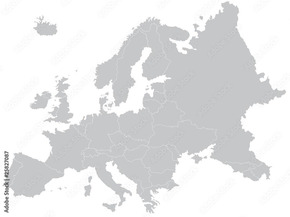 Mapa Europy <span>plik: #25827087 | autor: dglavinova</span>