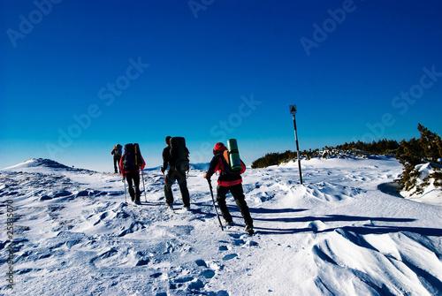 Photo Hiking in winter