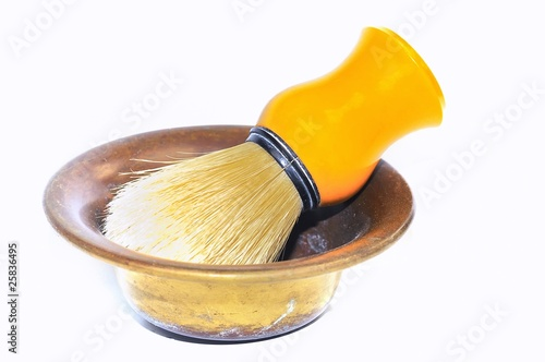 Tela  Brocha de afeitado aislada