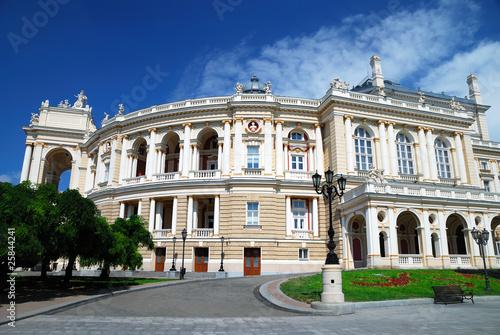 Spoed Foto op Canvas Theater Facade of opera house in Odessa, Ukraine