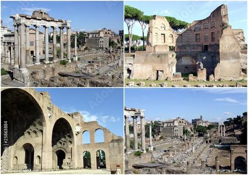 Valokuva  Cartolina del foro romano
