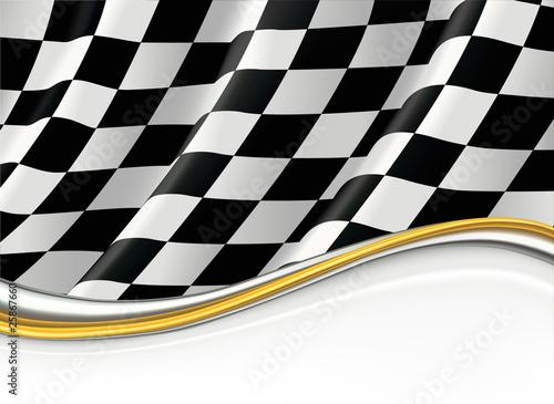 Fotografie, Obraz  Checkered Flag, vector background