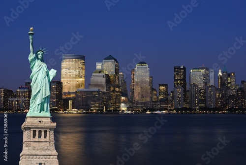 Wall Murals Statue of Liberty and New York City Skyline