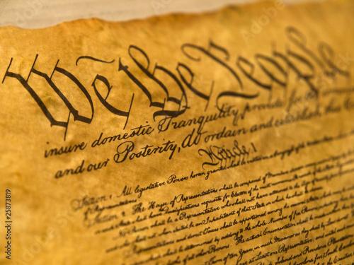 Photo USA Constitution Parchment