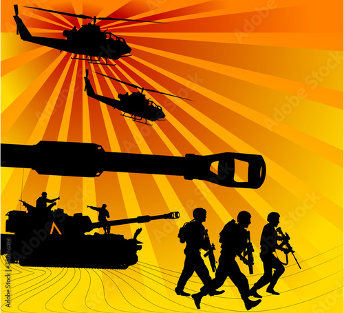 Poster Militaire army offensive