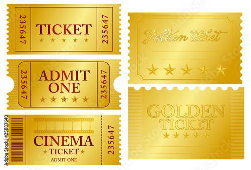 Fotomural Various ticket set
