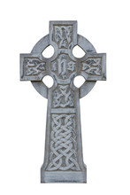 Celtic Tombstone Cross Isolated
