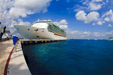 Cozumel Port With Crusie Ship