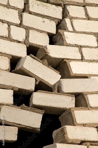 Fototapety, obrazy: Hole  wall   house  crack