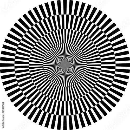 Poster Psychedelique optische Illusion, rund