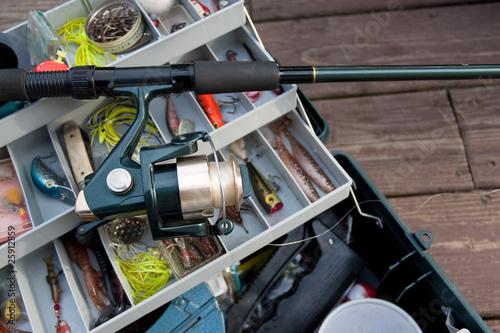 Photo Fishing Rod and Tackle Box