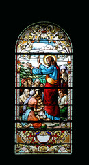 Naklejka Witraże sakralne Sermon on the Mount