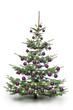 Weihnachtsbaum mit violetten Kugeln