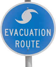 Hurricane Evacuation Route Sign