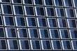 Leinwanddruck Bild - Fensterfront mit Möwe in Stockholm
