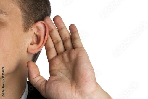 Photo  man listen