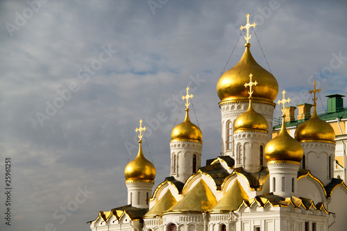 Kremlin's cathedral square in Moscow
