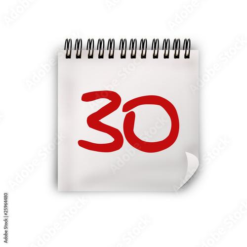 Calendario Giorno.Calendario Giorno 30 Buy This Stock Illustration And