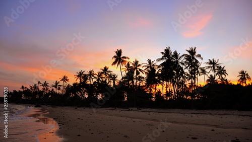 Poster Zanzibar Sunset in Zanzibar. Tanzania