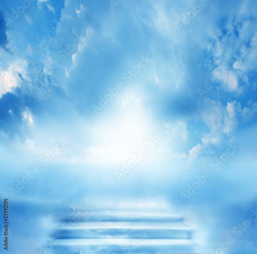 Fotografiet stairs in sky