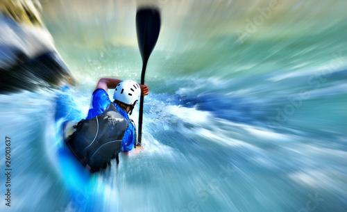 Fotografia, Obraz  virage en canoe