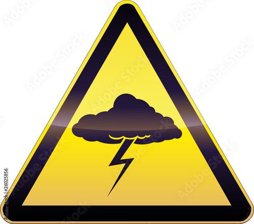yellow thunderstorm warning sign stock vector adobe stock