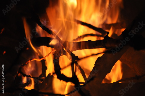 Cadres-photo bureau Dragons Fire Background
